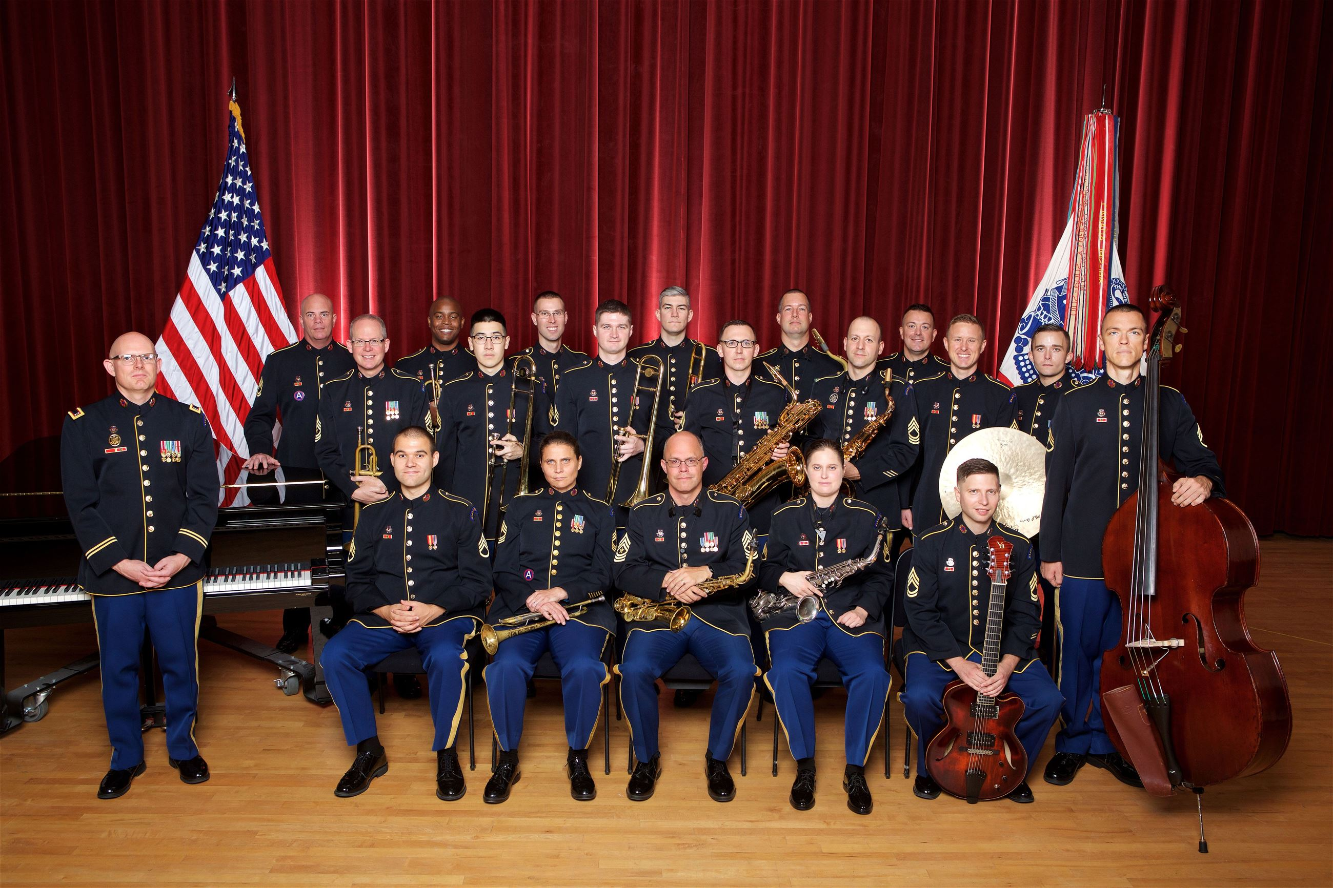 US Army Field Band Jazz Ambassadors Group Photo