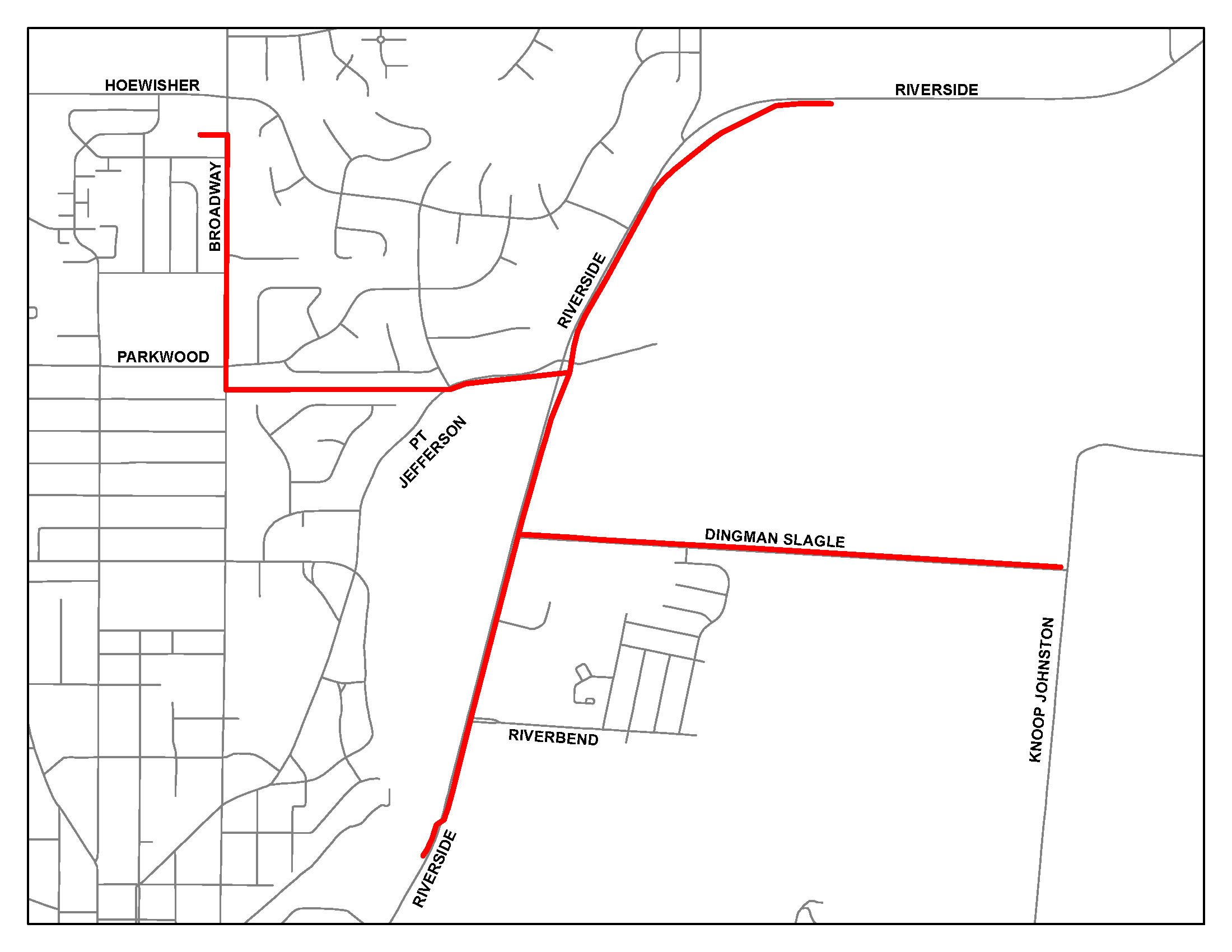 Map showing the planned DPL Line Clearance Areas of Work