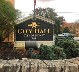 Sidney City Hall Sign