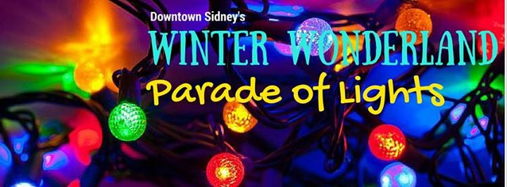 Downtown Sidney Winter Wonderland Parade of Lights banner